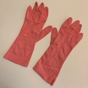 Vintage Pink Opera Gloves